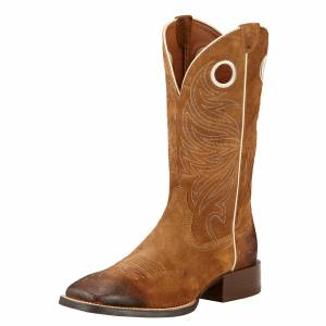 Ariat Mens Sport Rider Wester -  Antique Mocha Suede