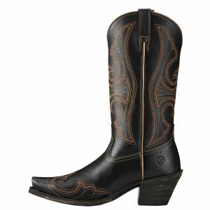 Ariat  Round Up D Toe Wingtip - Ladies - Blaze Black