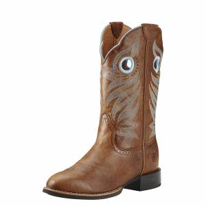Ariat Women's Round Up Stockman Boot - Wood