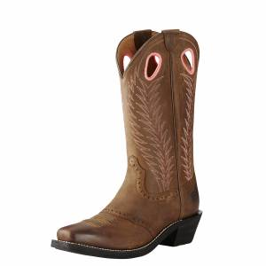 Ariat Women's Heritage Rancher Boot - Mustang Mud
