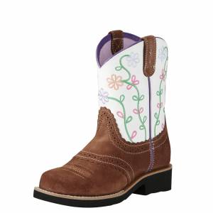 Ariat Youth Fatbaby Blossom Boot - Tan Marshmallow