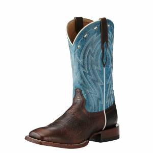 Ariat Men's Cowtown Boots - Chocolate Bullfrog Caribbean