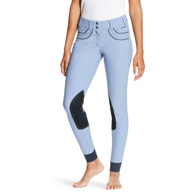 Ariat Women's Olympia Acclaim Low Rise Knee Patch Breech - Chambray Blue