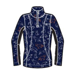 Ariat Girls Sunstopper Top - Navy Fox Print