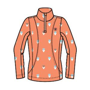 Ariat Girls Sunstopper Top - Peach Multi