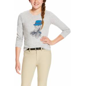 Ariat Girls Gracious Graphic Tee - Heather Grey
