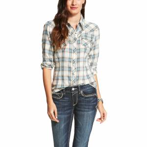 Ariat Women's Randie Fitted Snap Shirt - Multi Plaid