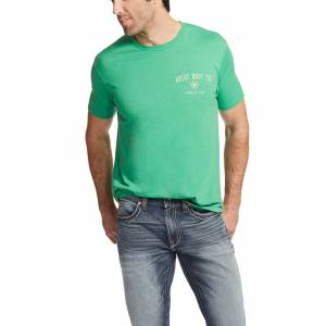 Ariat Men's Stampede Tee Kelly Heather - Kelly Heather