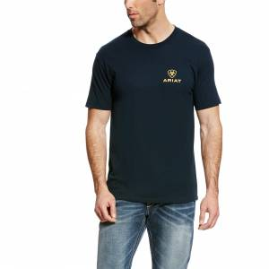 Ariat Men's Corporate Tee - Navy