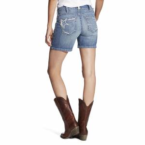 Ariat Women's Real Mid Rise Short Stars And Stripes - Azure