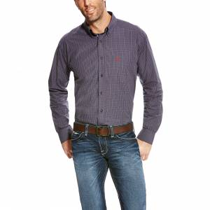 Ariat Alcino Long Sleeve Performance Shirt - Mens - Ombre Blue
