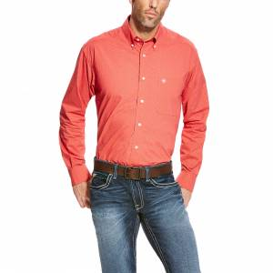 Ariat Alistar Long Sleeve Print Shirt - Mens -  Cranberry