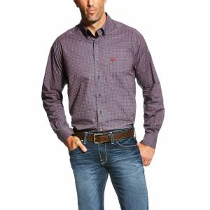 Ariat Anniston Long Sleeve Print Shirt - Mens -  Ombre Blue