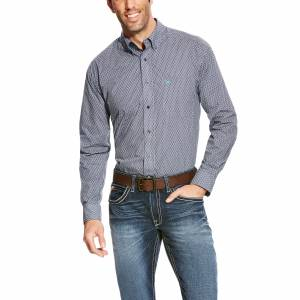 Ariat Argo Long Sleeve Print Shirt - Mens -  Ombre Blue