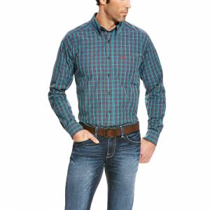 Ariat Avinger Long Sleeve Performance Shirt - Mens -  Ombre Blue