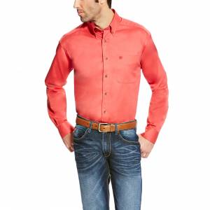 Ariat Solid Twill Shirt - Mens - Cranberry