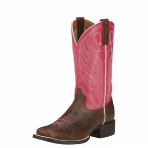 Ariat Round Up - Ladies - Western Wicker/Hot Pink