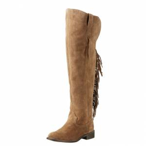 Ariat Farrah Fringe - Ladies - Dirty Tan Suede