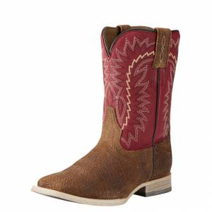 Ariat RLS Elite - Kids - Tan Oiled Gaucho/Arena Red