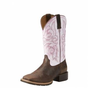 Ariat Hybrid Rancher - Ladies - Barnwood/Distressed Pink