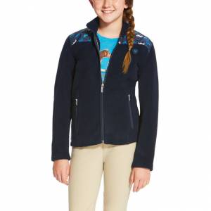Ariat Basis Full Zip - Girls - Navy