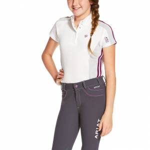 Ariat FEI Aptos Colorblock - Girls - White/Grey