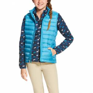 Ariat Ideal Down Vest - Girls - Barrier Blue