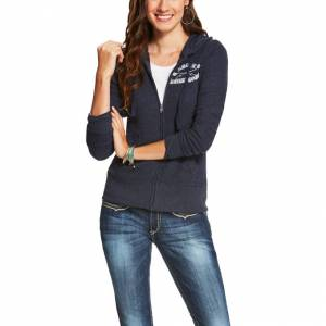 Ariat Bezel Hoodie - Ladies - Darkest Indigo