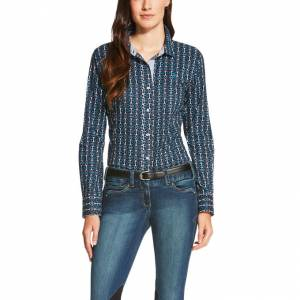 Ariat Bit Shirt - Ladies - Navy