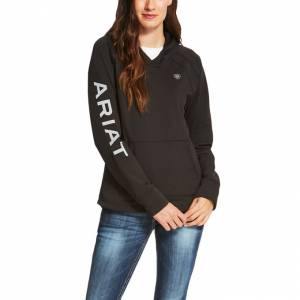 Ariat Conquest Logo Hoodie - Ladies - Black