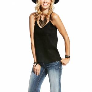Ariat Faux Suede Tank - Ladies - Black