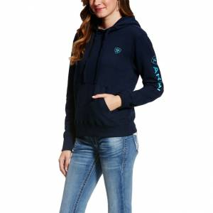 Ariat  Logo Hoodie - Ladies - Navy Eclipse