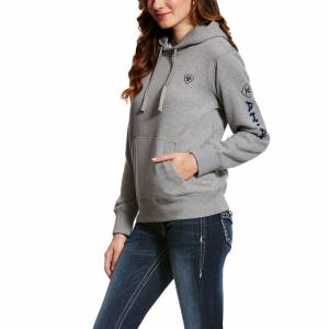 Ariat  Logo Hoodie- Heather Gray