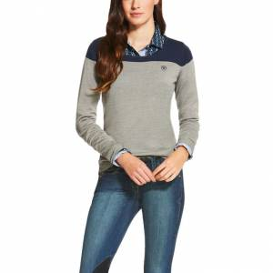Ariat  Ultimo Sweater - Ladies - Navy Colorblock