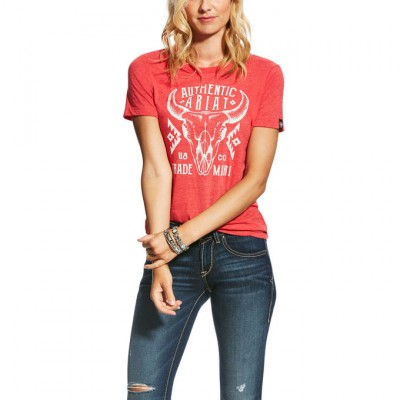 Ariat Native Tee - Ladies - Red Heather