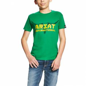 Ariat Longhorn Tee - Kids' - Kelly Green