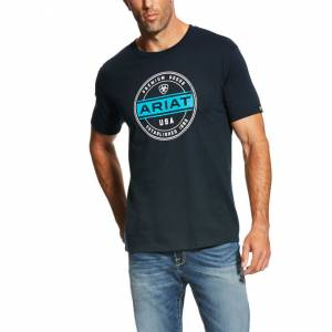Ariat Premium Goods Tee - Mens - Navy
