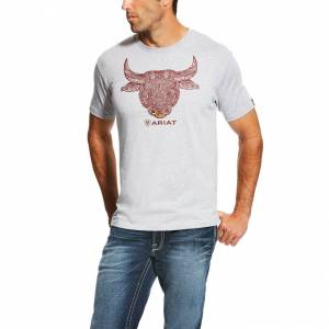 Ariat Bull Strong Tee - Mens - Athletic Heather