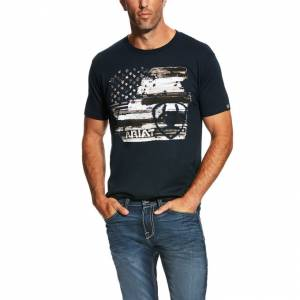 Ariat Americana Tee - Mens - Navy
