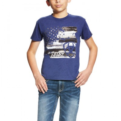 Ariat Americana Tee - Kids' - Navy Heather