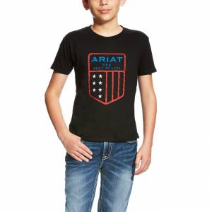 Ariat Us Shield Tee - Kids' - Black