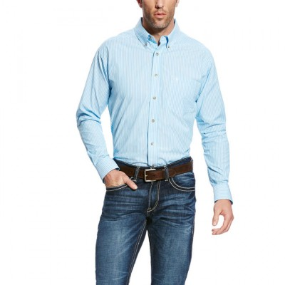 Ariat Griffith Long Sleeve Performance - Mens - Blue Grotto