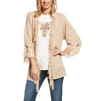 Ariat Kallista Sweater - Ladies - Almond Beige