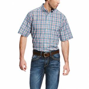 Ariat Fisher Short Sleeve Performance - Mens - Majolica Blue