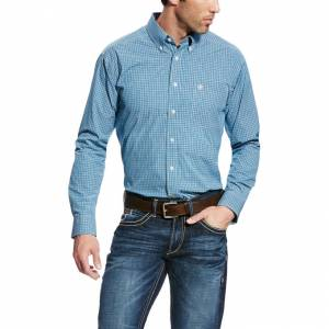 Ariat Foster Long Sleeve Performance - Mens - Azure Thistle