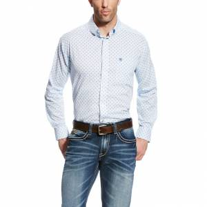 Ariat Farlin Long Sleeve Print - Mens -  White