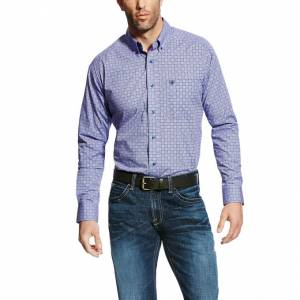 Ariat Emery Long Sleeve Print - Mens - Azulene