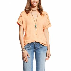 Ariat Joie Tee - Ladies - Habanero Peach