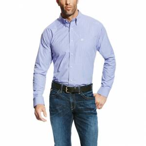 Ariat Edison Long Sleeve Performance - Mens - Azulene