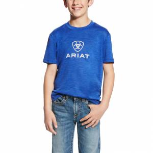 Ariat Charger Logo Top - Kids' - Sapphire